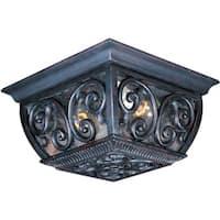 Maxim Bronze Vivex Seedy Shade Newbury VX 2-light Outdoor Ceiling Mount Light
