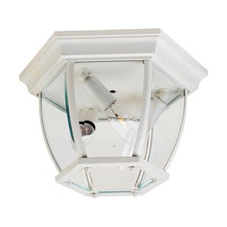 White Clear Shade Maxim 3-light Outdoor Ceiling Mount Light