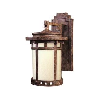 Maxim Die Cast Glass Mocha Shade Santa Barbara EE 1-light Outdoor Wall Mount Light