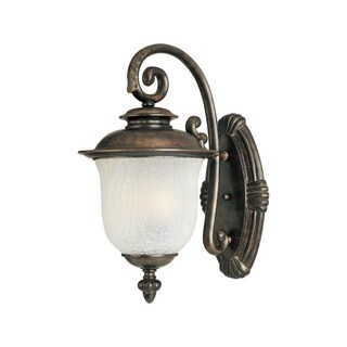 Maxim Die Cast Frost Crackle Shade Cambria EE 1-light Outdoor Wall Mount Light