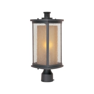 Maxim Bronze Aluminium Shade Bungalow 1-light Outdoor Pole/ Post Mount Light