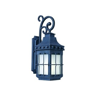 Maxim Forged Iron Frosted Seedy Shade Nantucket EE 1-light Outdoor Wall Mount Light
