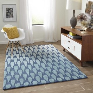 Saronic Cascade Hand-tufted Wool Area Rug (3'6 x 5'6)