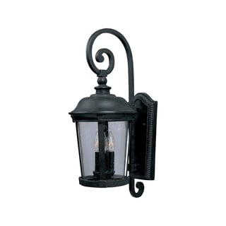 Maxim Bronze Vivex Shade Dover VX 3-light Outdoor Wall Mount Light