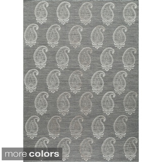 Momeni Lace Embroided  Hand-Woven Wool Blend Rug (3'6 X 5'6)