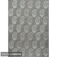 Momeni Lace Embroided Hand-Woven Wool Blend Rug
