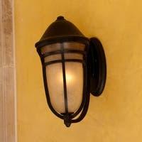 Maxim Bronze Vivex Mocha Cloud Shade Westport VX 1-light Outdoor Wall Mount Light