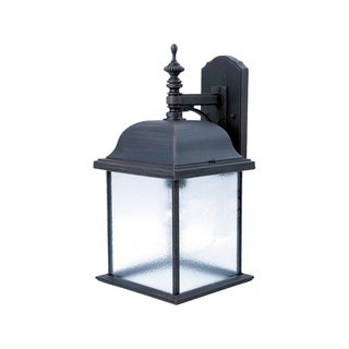 Maxim Rust Die Cast Shade Senator 1-light Outdoor Wall Mount Light