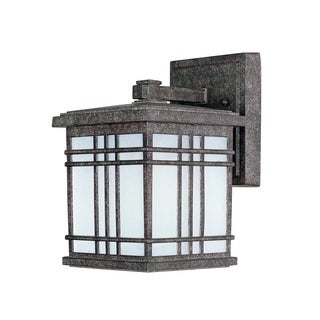 Maxim Die Cast Frosted Seedy Shade Sienna EE 1-light Outdoor Wall Mount Light
