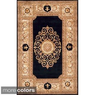 Momeni Maison Black Hand-Tufted Wool Rug (3'6 X 5'6)
