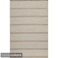 Momeni Mesa Beige Hand-Woven Wool Reversible Rug - 3'6 x 5'6