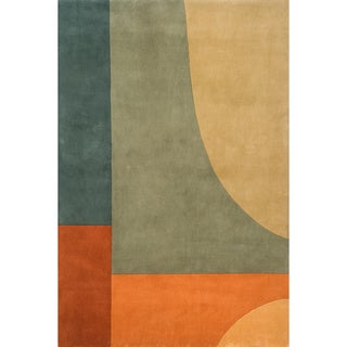 New Wave League Hand-tufted Wool Area Rug (3'6 x 5'6)