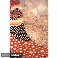 Momeni New Wave Multicolor Hand-Tufted and Hand-Carved Wool Rug (3'6 x 5'6)