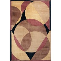 Momeni New Wave Brown Hand-Tufted and Hand-Carved Wool Rug (3'6 X 5'6)
