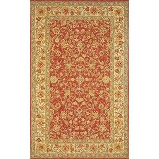 Kashan Hand Hooked Wool Area Rug (3'6 x 5'6)