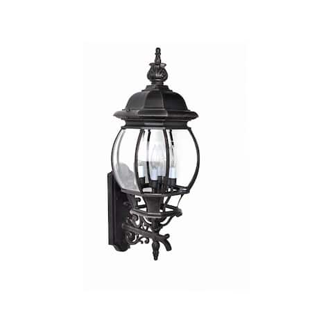 Maxim Rust Die Cast Shade Crown Hill 4-light Outdoor Wall Mount