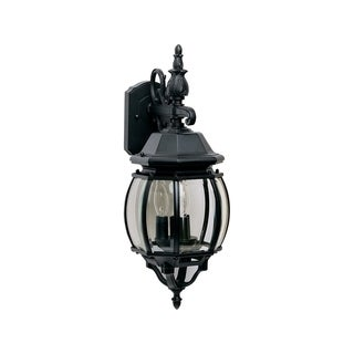 Maxim Die Cast Clear Shade Crown Hill 3-light Outdoor Wall Mount