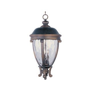Maxim Bronze Vivex Water Glass Shade Camden Vx 3-light Outdoor Hanging Lantern