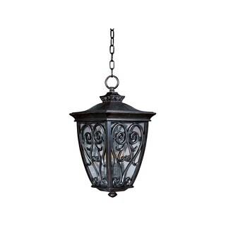Maxim Bronze Vivex Shade Newbury Vx 3-light Outdoor Hanging Lantern
