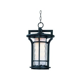 Maxim Die Cast Water Glass Shade Oakville 1-light Outdoor Hanging Lantern