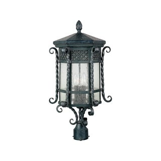 Maxim Iron Iron Shade Scottsdale 3-light Outdoor Pole/Post Mount