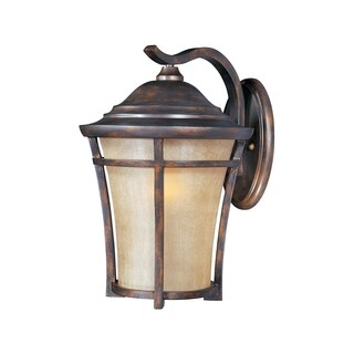 Maxim Copper Vivex Golden Frost Shade Balboa Vx EE 1-light Outdoor Wall Mount