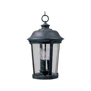 Maxim Bronze Die Cast Shade Dover Dc 3-light Outdoor Hanging Lantern
