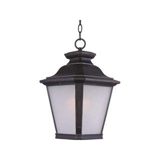 Maxim Bronze Metal Frosted Seedy Shade Knoxville 1-light Outdoor Hanging Lantern