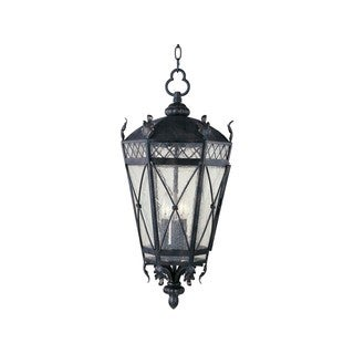 Maxim Iron Forged Iron Seedy Shade Canterbury 3-light Outdoor Hanging Lantern