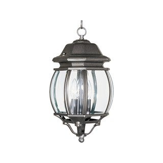Maxim Crown Hill Die Cast Clear Shade 3-light Outdoor Hanging Lantern