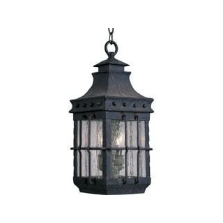 Maxim Forged Iron Seedy Shade Nantucket 3-light Outdoor Hanging Lantern