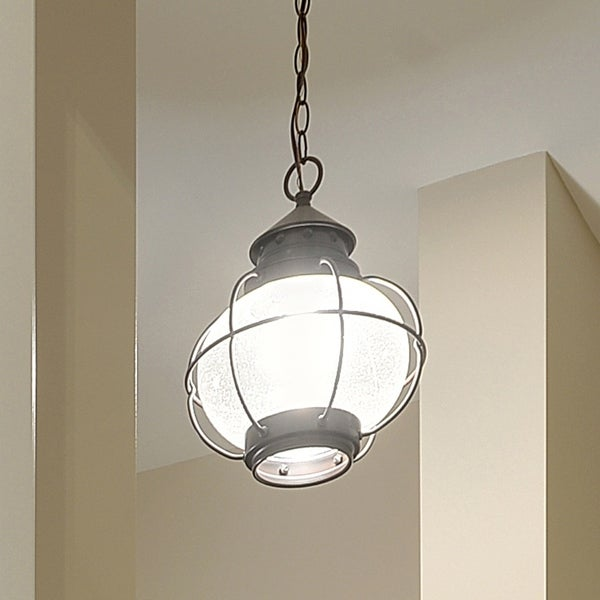 Maxim Bronze Seedy Shade Portsmouth 1-light Outdoor Hanging Lantern. Opens flyout.