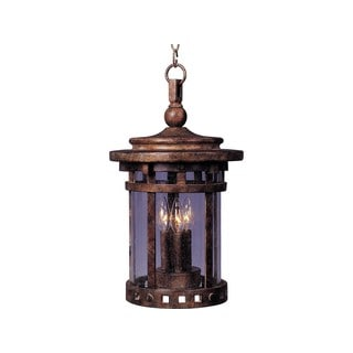 Maxim Vivex Shade Santa Barbara Vx 3-light Outdoor Hanging Lantern
