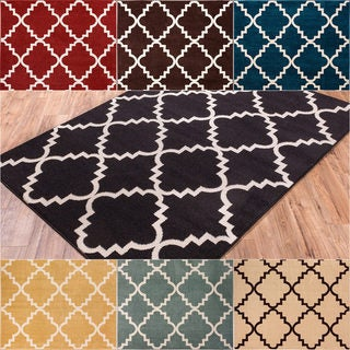 Well Woven Bright Trendy Twist Iron Trellis Lattice Contemporary Moroccan Geometric Entryway Mat Area Rug (2'3 x 3'11)