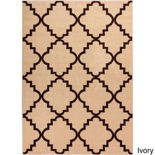 Well-woven Bright Trendy Twist Iron Trellis Lattice Modern Classic Geometric Moroccan Frise Texture