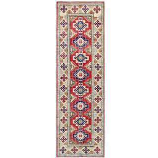Herat Oriental Afghan Hand-knotted Tribal Kazak Wool Runner - 2'7 x 8'6