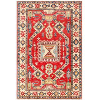 Herat Oriental Afghan Hand-knotted Tribal Kazak Wool Rug (7'2 x 10'9)