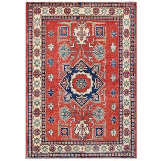 Herat Oriental Afghan Hand-knotted Tribal Kazak Wool Rug (4'8 x 6'7)