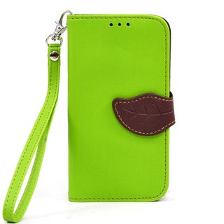 Dasein Faux Leather Leaf Wallet Phone Case for Samsung Galaxy S5