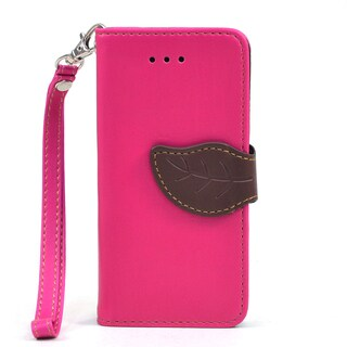 Dasein Faux Leather Leaf Wallet Phone Case for Apple iPhone 5