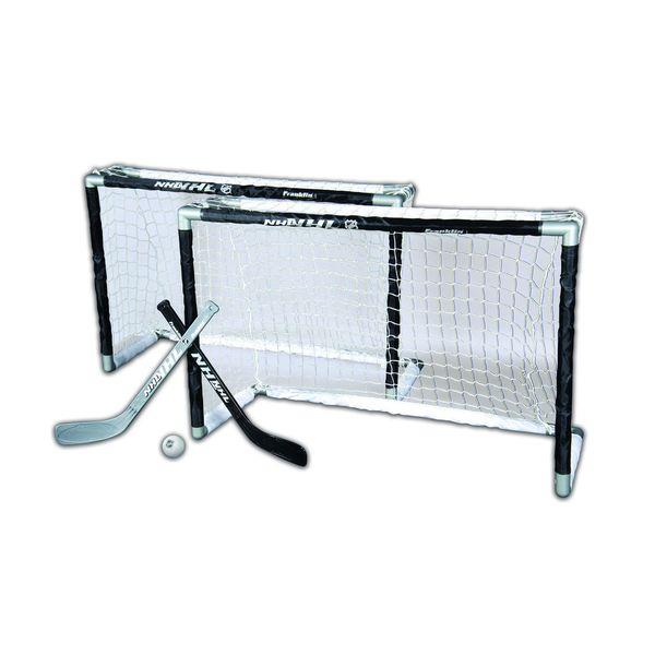 Franklin Sports NHL Mini Hockey 2 Goal Set