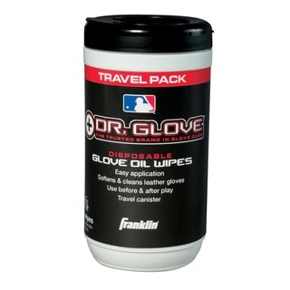Franklin Sports Dr. Glove Conditioning Glove Oil Wipes Travel Pack