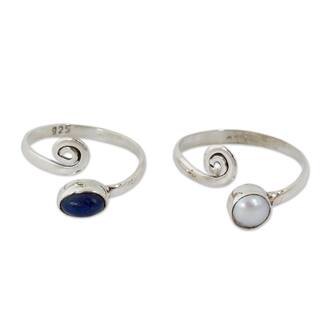 Handmade Set of 2 Sterling SIlver 'Perfection' Pearl Toe Rings (4 mm) (India)|https://ak1.ostkcdn.com/images/products/9962554/P17115147.jpg?impolicy=medium
