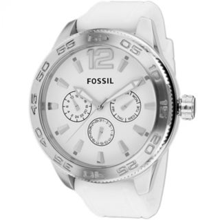 Fossil Men's BQ1163 'Classic' Chronograph White Silicone Watch