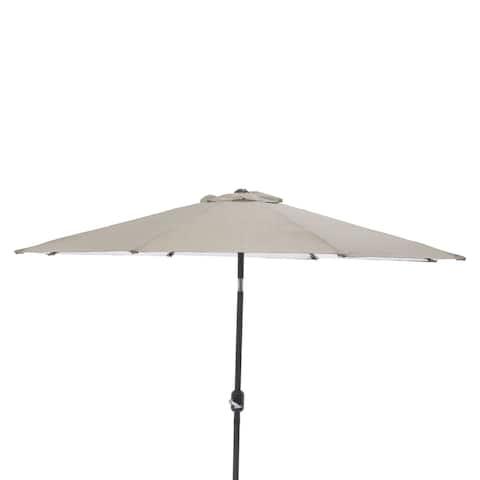 Pillow Perfect Monti Taupe 9-foot Patio Market Umbrella