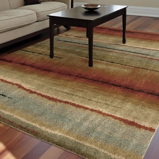 Carolina Weavers Grand Comfort Collection Field of Vision Multi Shag Area Rug (7'10 x 10'10) - 7'10 x 10'10