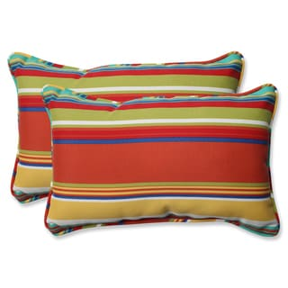 Pillow Perfect Outdoor Westport Spring Rectangular Throw Pillow (Set of 2)