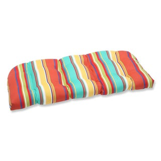 Pillow Perfect Outdoor Westport Spring Wicker Loveseat Cushion