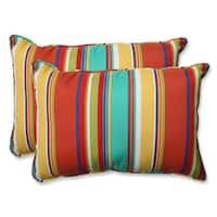 Pillow Perfect Outdoor Westport Spring Over-sized Rectangular Throw Pillow (Set of 2)