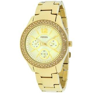 Fossil Women's ES3589 Stella Round Goldtone Bracelet Watch